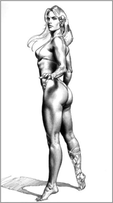 красивые рисунки голых женщин-вш2